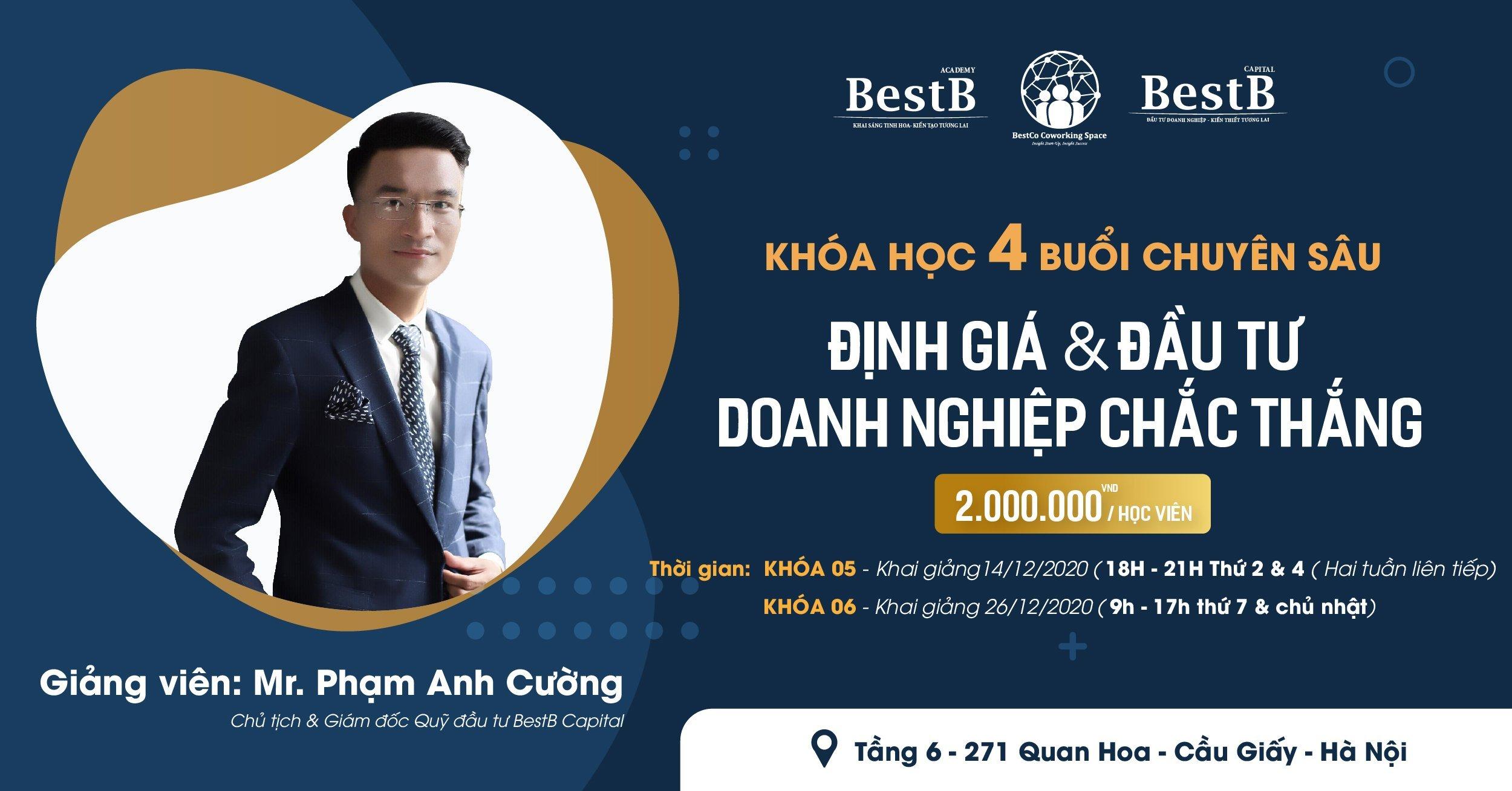 Khóa học định giá và đầu tư doanh nghiệp được tổ chức bởi BestB Capital